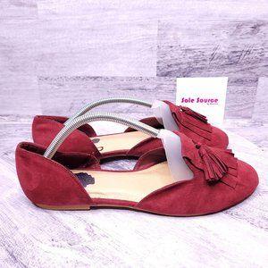 Torrid D'Orsay Tassel Loafer Red 10